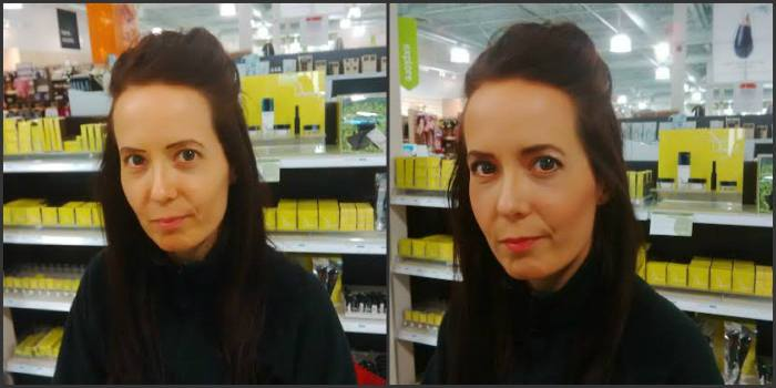 I was recently made over for a gala by terra20 cosmetic artist, Thierry, using only vegan products. Here's the before and after.