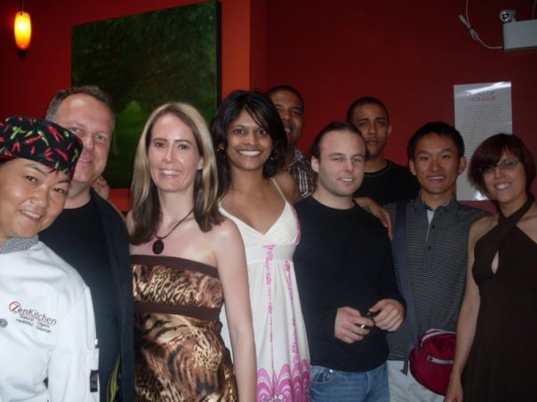 Some of my friends and I with David and Caroline during ZenKitchen's pre-launch dinner event.  ZenKitchen has supported the National Capital Vegetarian Association since the moment the restaurant opened.