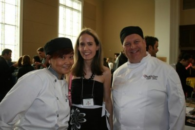 With Caroline and Dave at Veg Fest, which they sponsored for several years.