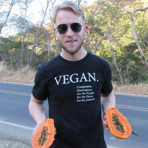 If Kyle didn't proudly declare his veganism, how would people know that vegans can be healthy, strong, compassionate, and run marathons in less than three hours?
